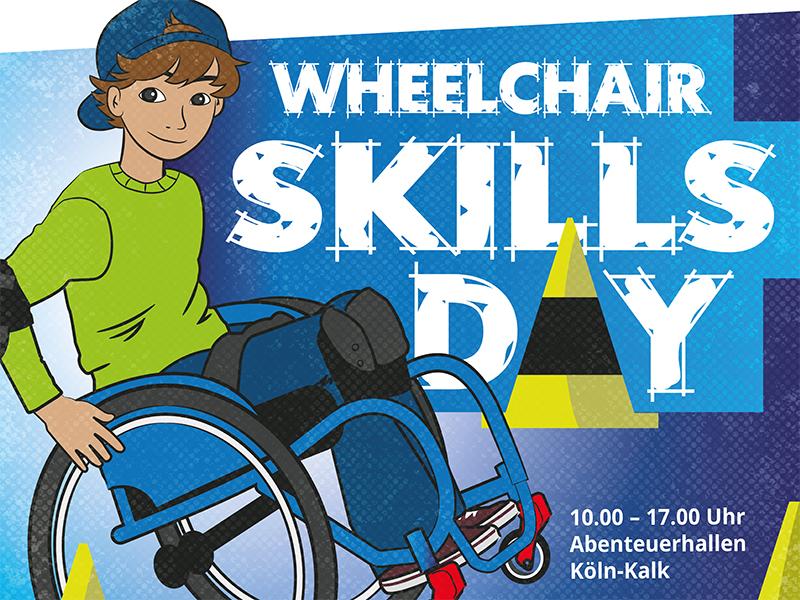 Ausschnitt aus dem Plakat für den Wheelchair Skills Day 2021 in Köln | Grafik: G. Pleßmann