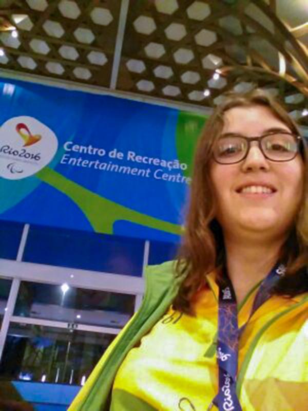 Mechtild Kreuser als Volunteer in Rio